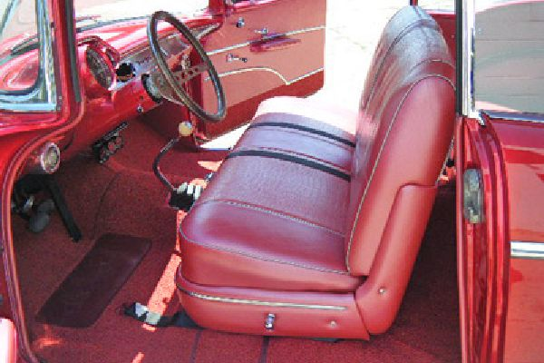 Classic car interior restored by Barry Seat.