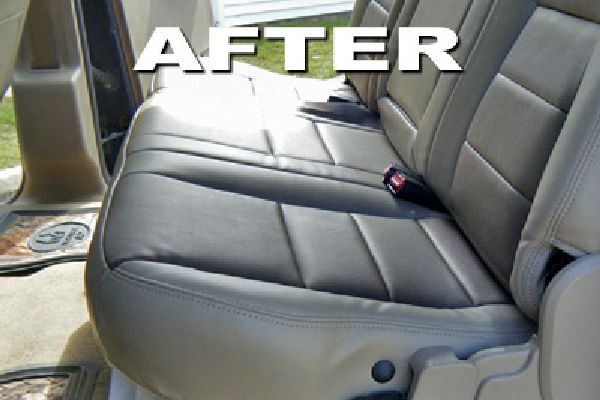 Auto seat after being recoved by Barry Seat Cover