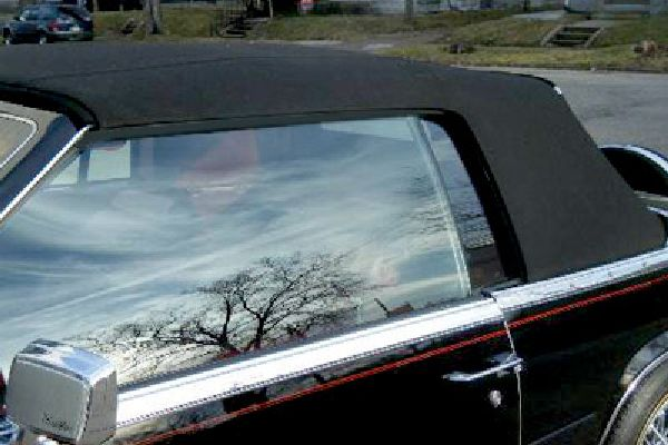 Convertible top replaced on Cadillac,